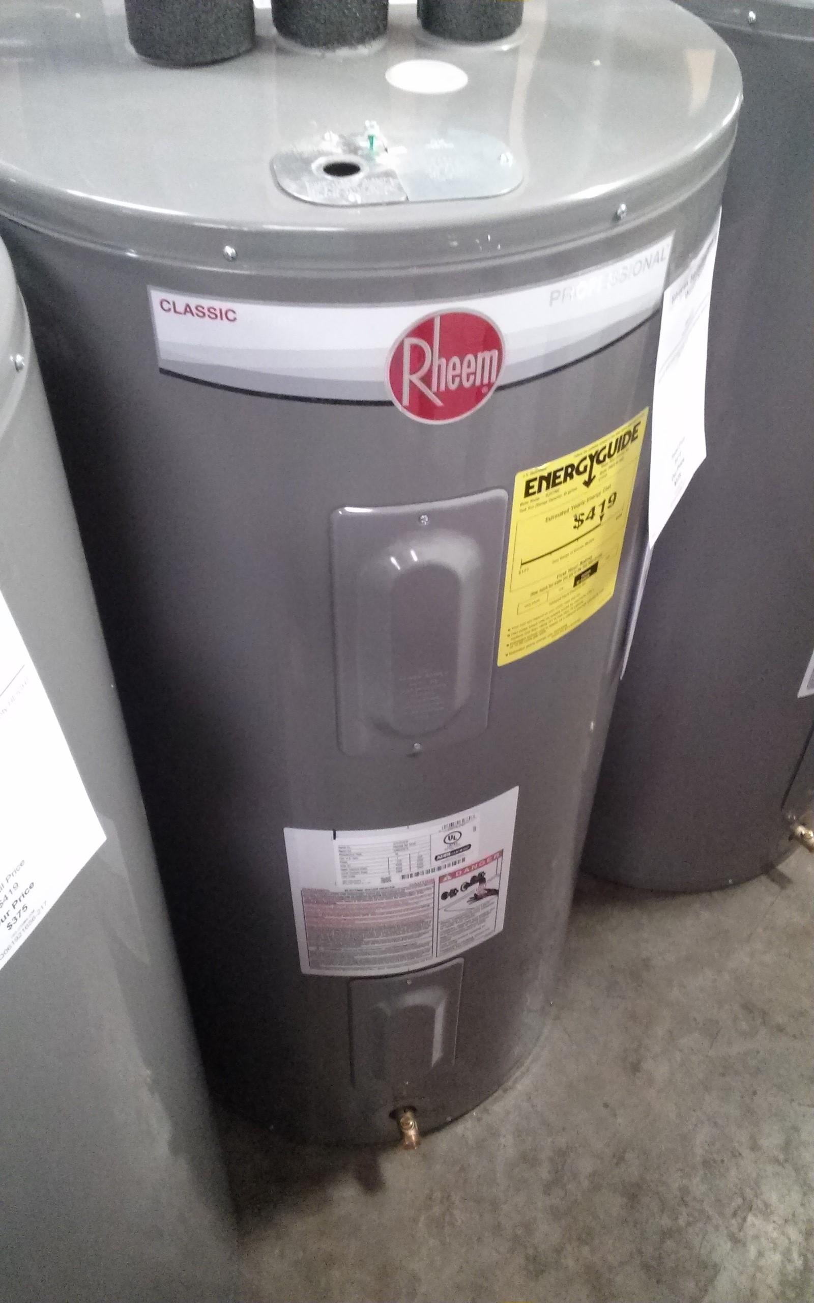 Rheem 50 Gallon Electric Water Heater Proe50m2rh95