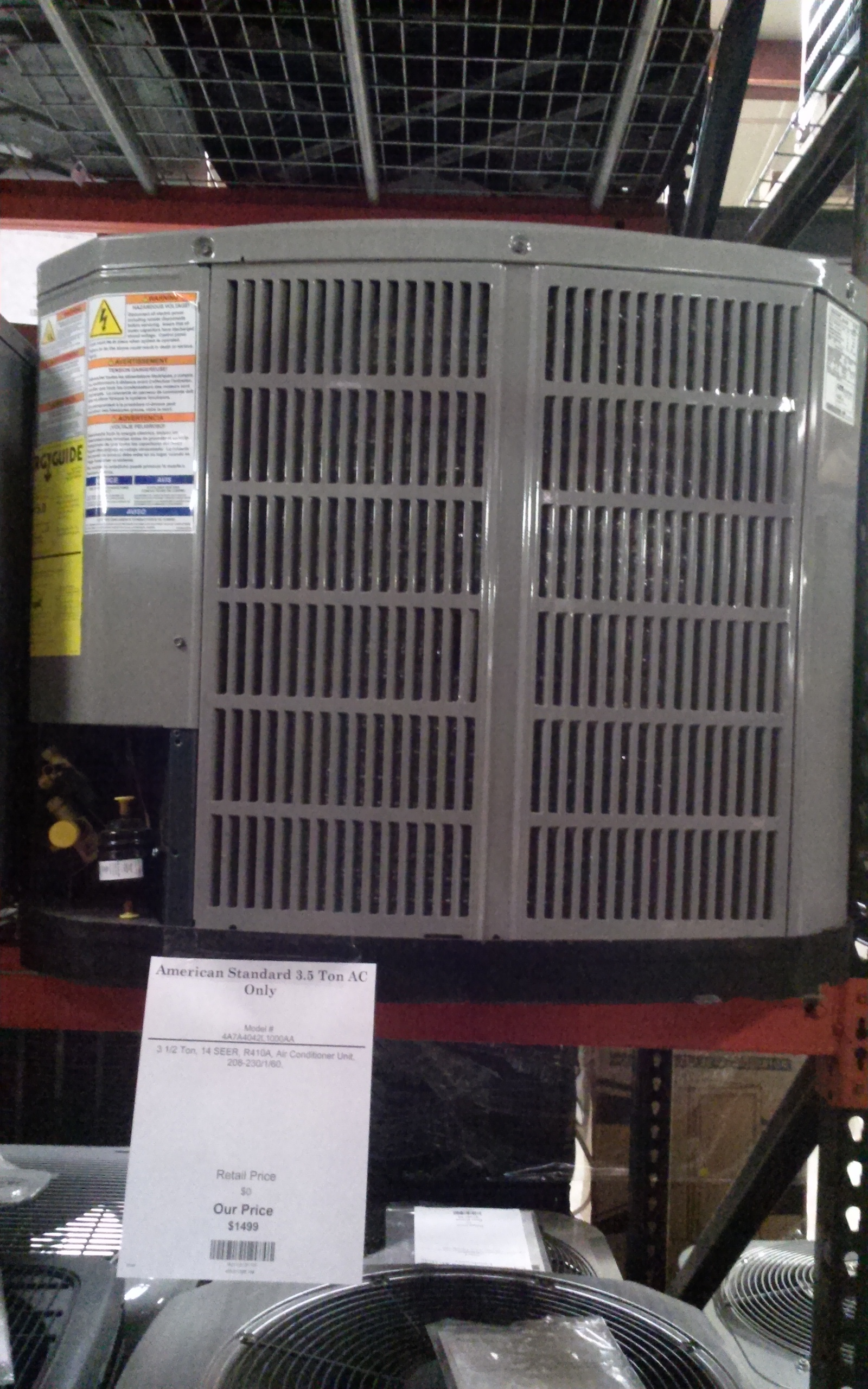 American Standard 3 5 Ton Ac Only 4a7a4042l1000aa
