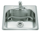 KOHLER Staccato Single-Basin Self-Rimming Sink
