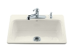 KOHLER Bakersfield Self-Rimming sink, Biscuit MD# 5832-3-96