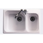 Rohl Allia Fireclay Single Hole Kitchen Sink MD# 6317-00