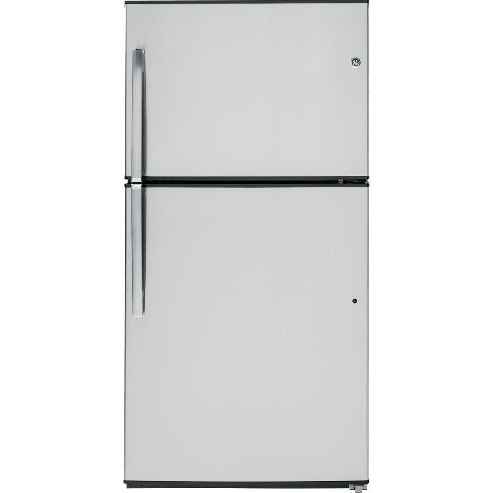 ge 21 2 cu ft top freezer refrigerator. Black Bedroom Furniture Sets. Home Design Ideas