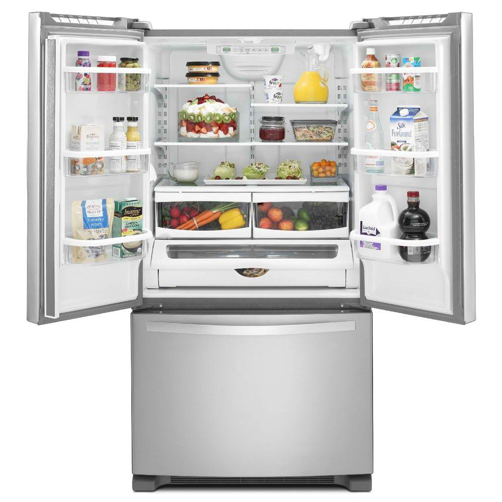 Whirlpool 20 cu ft french door counter depth refrigerator rubansaba