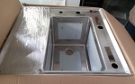 Dish Combo Sink W/Drain Tray Right Hand 21