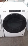Whirlpool 7.4 Cu Ft Dryer in White Stackable