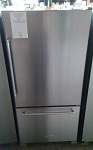 Kitchen Aid Bottom Freezer Refrigerator Stainless Steel