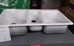 42 x 22 Acrylic  3 Bowl Sink-White