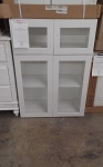 White Cabinet with Glass 30