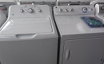 GE 3.8 Cu FT Washer With 7.0 Cu Ft Dryer