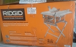Ridgid Corded 10 in. Compact Table Saw With stand