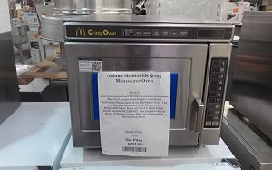 Amana Mcdonalds Q-ing  Microwave Oven