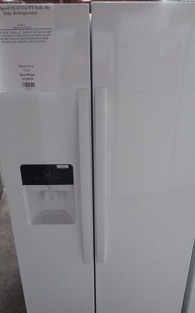 Whirlpool 24.55 Cu FT Side By Side Refrigerator