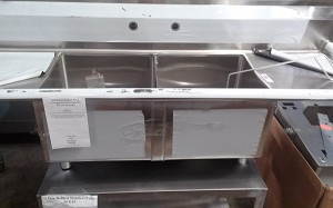 Advance Tabco Two Compartment Sink W/ Drain boards
