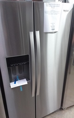 Whirlpool 21 Cu Ft Side By Side Refrigerator Counter Depth