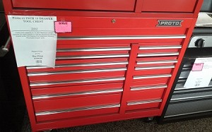 PROTO 41 INCH 15 DRAWER TOOL CHEST MD# J444142