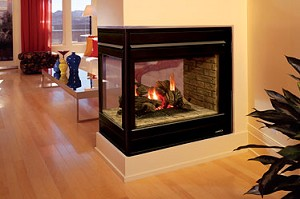 LENNOX Elite Direct Vent 3 Sided Fire Place MD# EBVPFNB-3 Sided fire place. Milvolt 40IN long